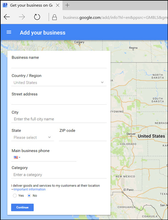Google My Business Add Business Form ReviewIgnite