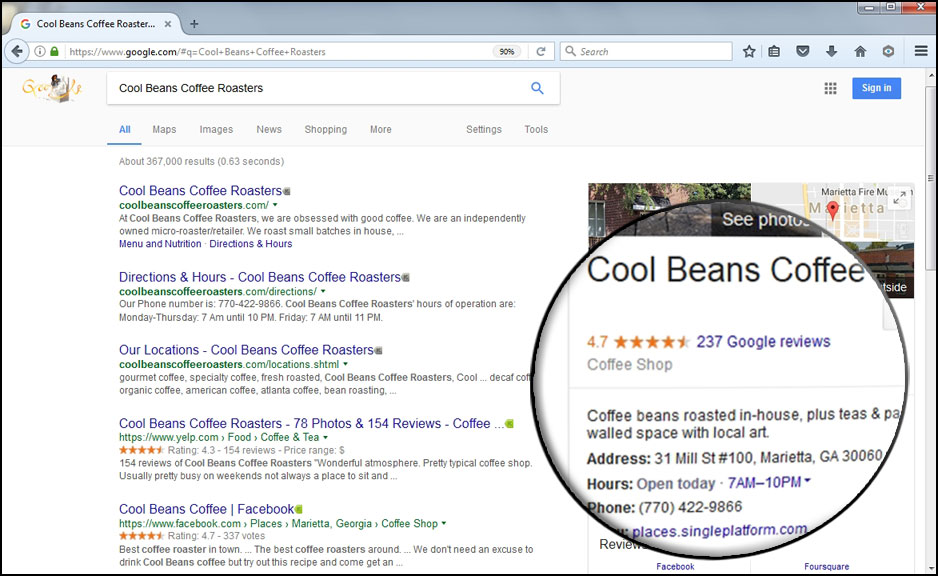 Google My Business Local SERP ReviewIgnite