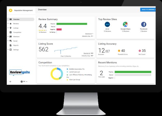 Online Reputation Management Dashboard