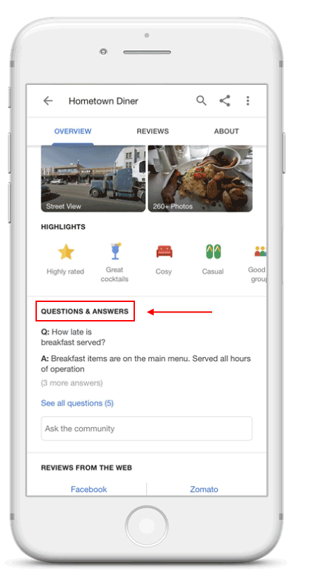 Google Q&A Mobile