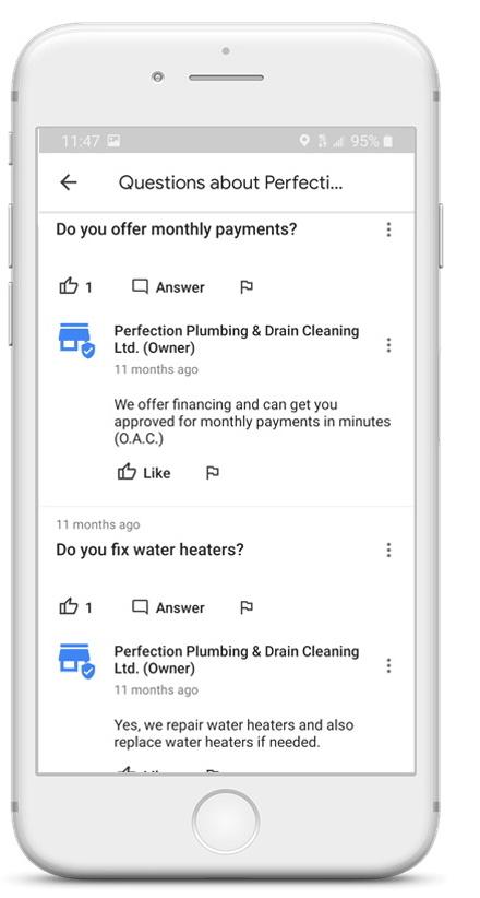 Google Q&A FAQs