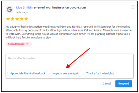 Automated Review Response Suggestions