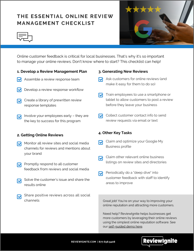 Online Review Management Checklist